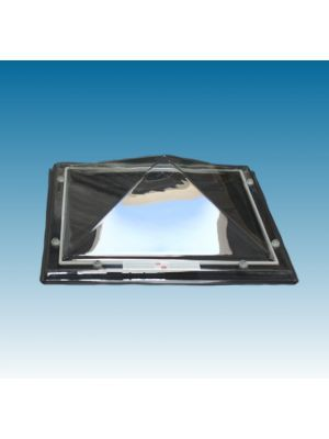 Losse lichtkoepel Piramide dagmaat 150x150  dagmaat (buitenmaat 166x166) Polycarbonaat Driewandig (PC/PMMA/PMMA) Helder