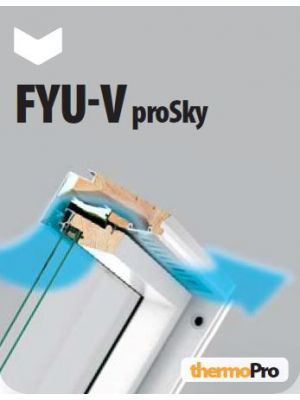 Fakro FYU V-U3 Tuimeldakraam prosky verhoogde tuimelas V40P 78x160 cm