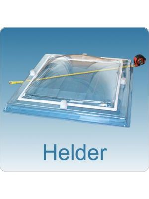 Lichtkoepel enkelwandig acrylaat (PMMA) 100X100 bolvormig helder
