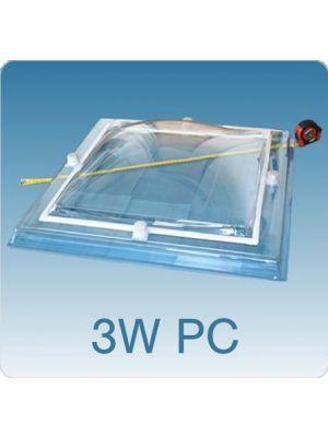 Losse koepel driewandig polycarbonaat (PC/PMMA/PMMA)