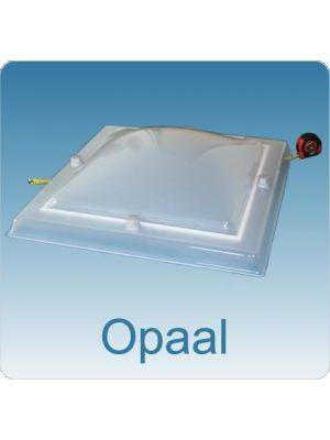 Lichtkoepel enkelwandig polycarbonaat (PC) 100X100 bolvormig opaal