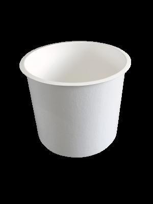 Polyester bak 200 liter - rond 52  x 95 (diam x h bodemmaat in cm.)