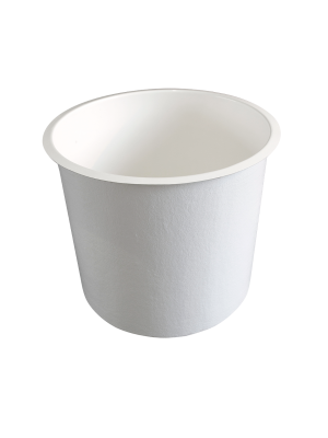 Polyester bak 750 liter - rond 95  x 102 (diam x h bodemmaat in cm.)